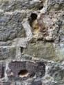 Sandstein, weniger verfestigte Partien