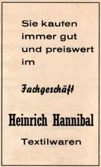Werbung 1962
