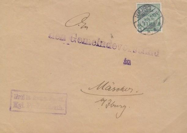 Dienstbrief vom 11. September 1903