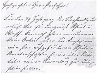 Brief von Wilhelm Trenkner