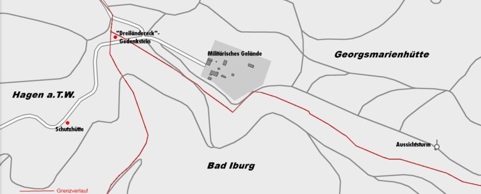 Heutiger Grenzverlauf am Dörenberg