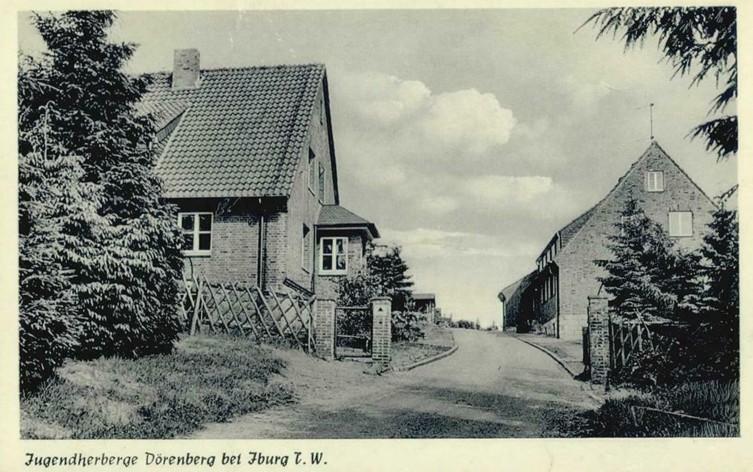 Jugendherberge auf einer Postkarte