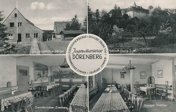 Jugendherberge auf einer Postkarte aus dem Verlag Hankers-Druck, Iburg
