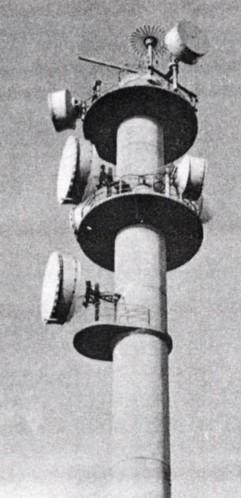 Der Peiler auf der Turmspitze