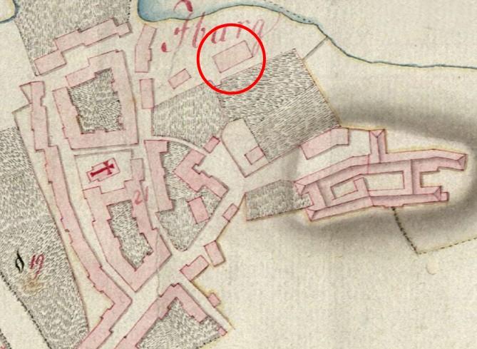 Carte von der Feldmark des zum Fürstlich Osnabrückschen Amte Iburg gehörigen Fleckens Iburg