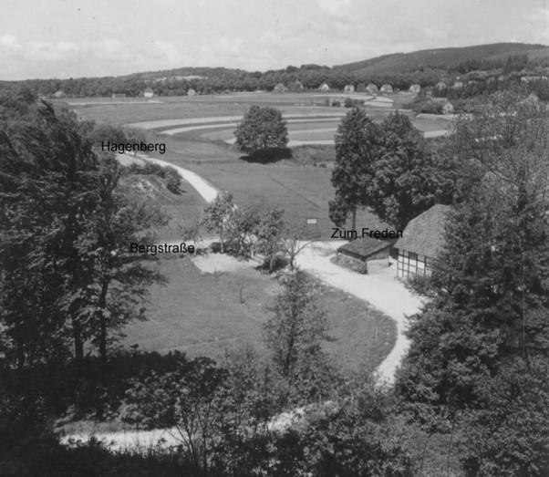 Situationsplan am nordöstlichen Bereich des Hagenberges