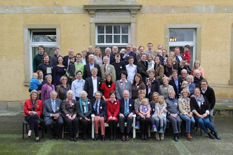 Lamby'sche Familientreffen mit 65 Nachfahren, 5./6. April 2014
