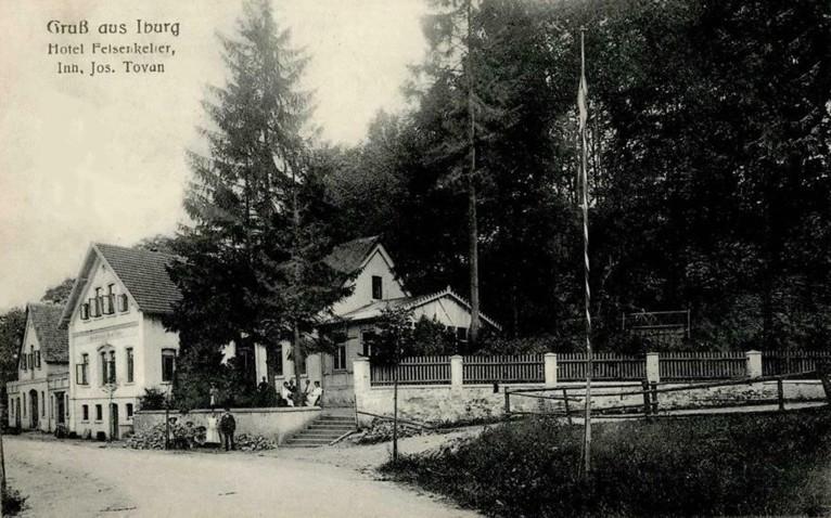 Ansichtskarte aus dem Verlag von A. Hankers, Iburg (1907 gelaufen)