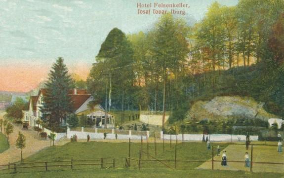 Ansichtskarte aus dem Verlag A. Hankers, Iburg (1910 gelaufen)