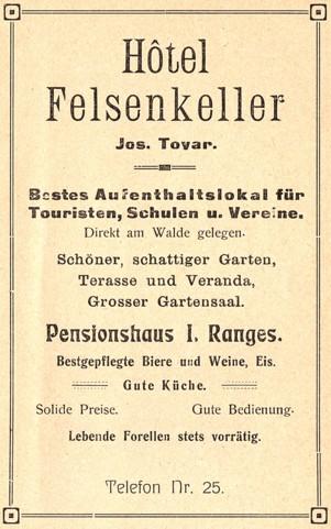 Gewerbliche Werbung um 1920