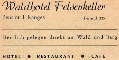 Gewerbliche Werbung aus dem Jahr 1952