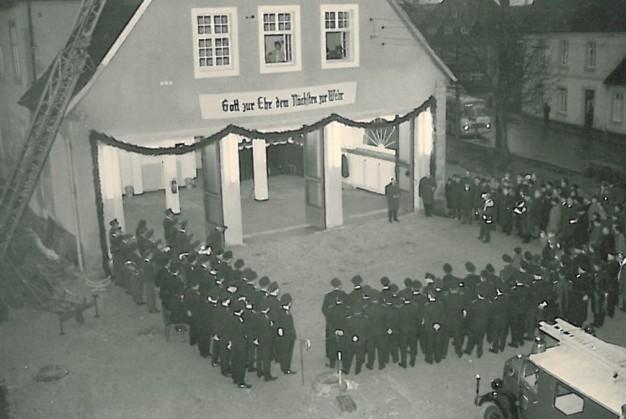 Einweihung des neuen Feuerwehrgerätehauses am 16. Januar 1968