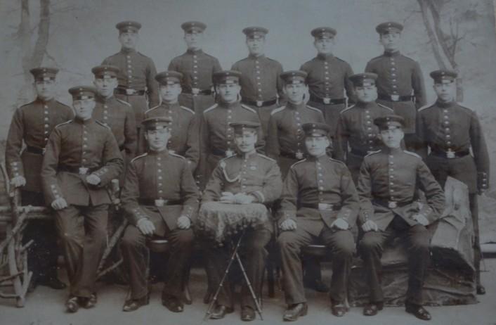 Ausbildung bei der 3. Kompanie des 1. Hannoverschen Infanterie-Regiments Nr. 74 in Hannover, 1899