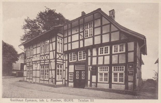 Ansichtskarte, Gasthaus Eymann, Inhaber: Ludwig Fischer