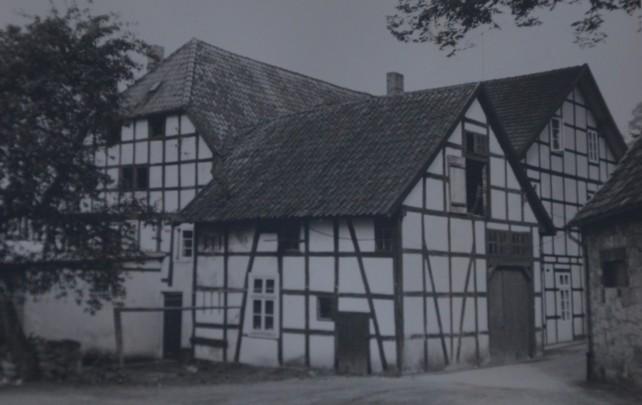 Ansicht von der Hofseite vor dem Umbau 1963