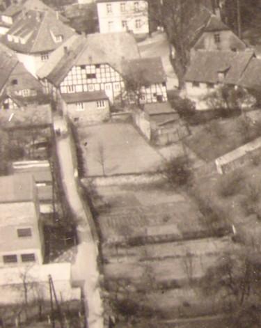 Luftbild von Süden mit dem Hagenpatt, April 1957