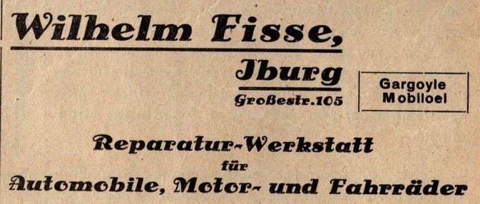 Anzeige Fisse 1931