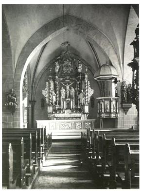Inneres der Fleckenskirche, um 1921