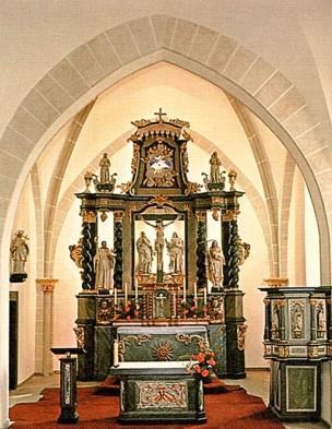 Inneres der Fleckenskirche, 1976