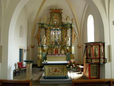 Inneres der Fleckenskirche, 2020