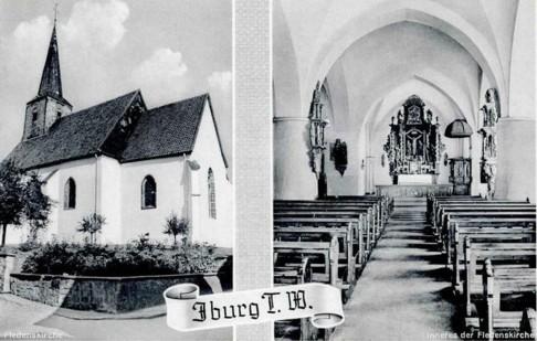 Postkarte der Fleckenskirche