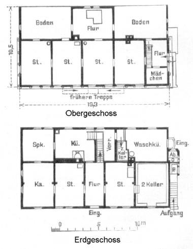 Grundriss im Jahre 1909 nach Wilhelm Jänecke