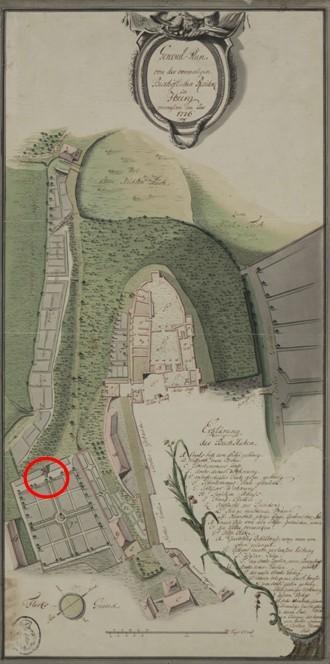 General-Plan von der vormaligen Bischöflichen Residenz zu Iburg, 1776