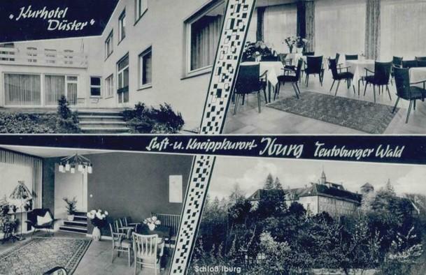 Ansichtskarte Kurhotel Düster, gelaufen 1965