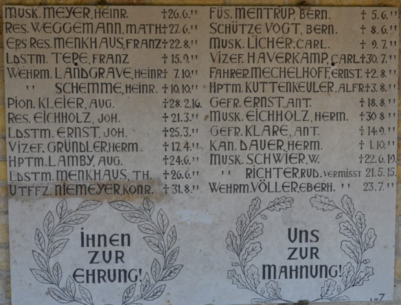 Gedenktafel mit dem Namen August Lamby