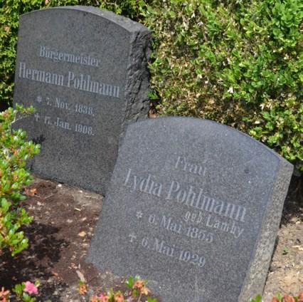 Grabsteine Hermann und Lydia Pohlmann, geborene Lamby