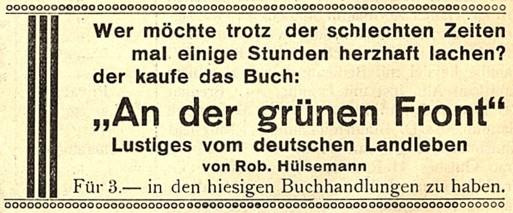 aus: Iburger Fremdenblatt, 1. Jahrgang, Nr. 2, 11. Juni 1930