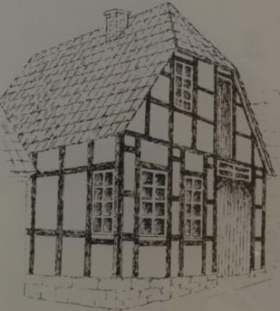 Gebäudeansicht um 1900