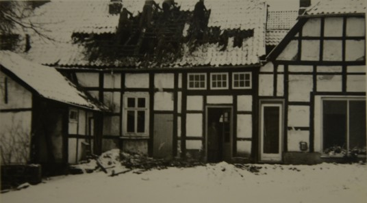 Beginn des Hausabrisses 1969