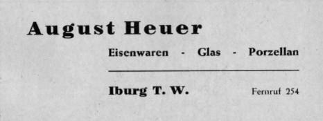 Gewerbliche Anzeige 1957