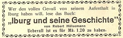 aus: Iburger Fremdenblatt, 1. Jahrgang, Nr. 3, 18. Juni 1930