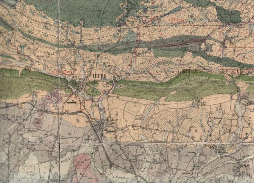 Geologische Karte, Blatt Iburg (HAACK 1930)