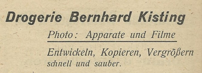 Werbung Kisting 1949