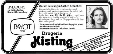 Werbung Kisting 1985