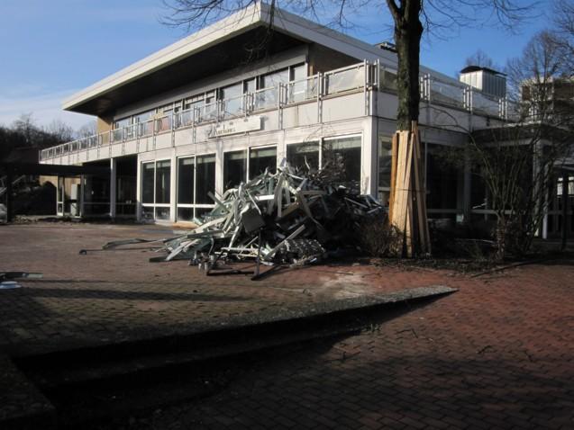 Abrissarbeiten am Kurhaus, 21. März 2010