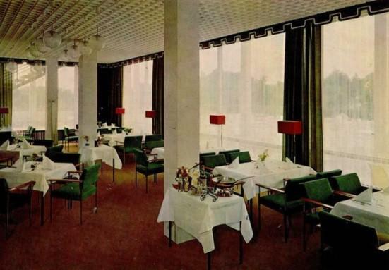 Ansichtskarten mit Blick in das Kurhaus-Restaurant, Klein-Druck, Lengerich/Westf.