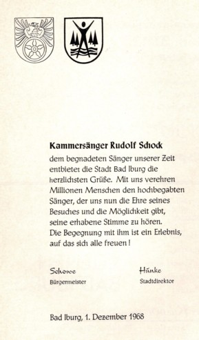 Der Opern-, Lied- und Operettensänger Rudolf Schock