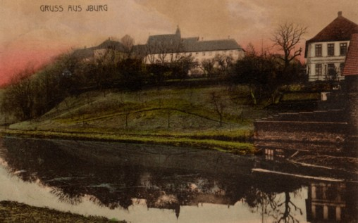 Ansichtskarte aus dem Jahr 1907 mit dem Haus Lamby (rechts oben)
