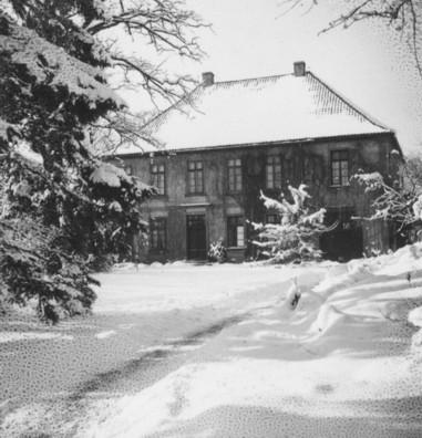 Haus Lamby, fotografiert im Januar 1945 von Hans Hasekamp