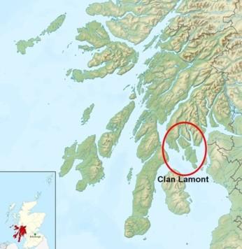 Lage des Clan Lamont