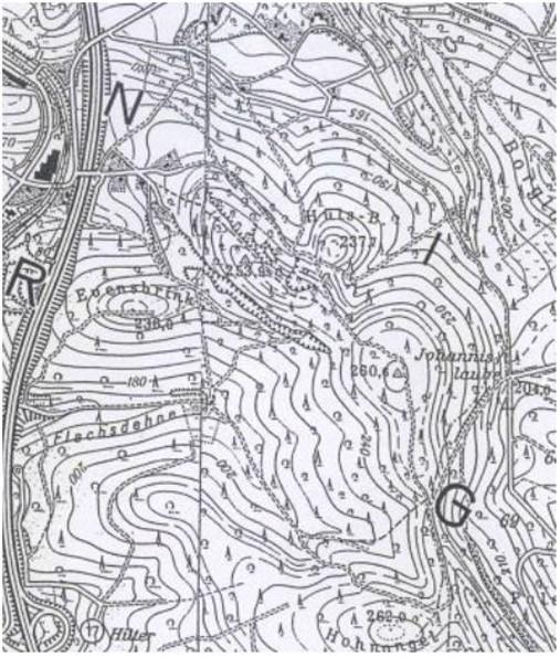 Lage des Hüls-Berges