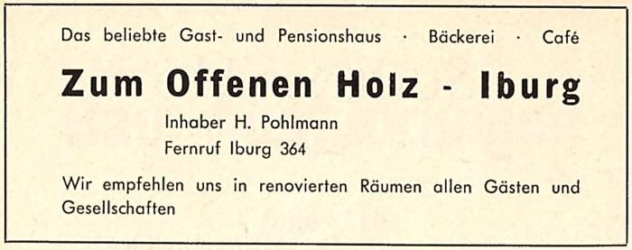 Gewerbliche Werbeanzeige, Juli 1962