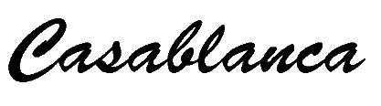 """Unverwechselbarer Schriftzug des """"Casablanca"""""""