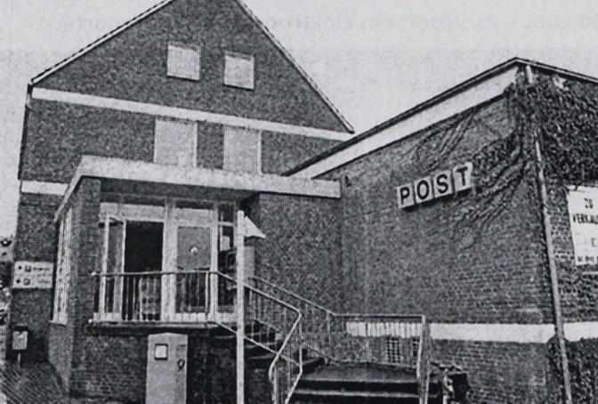 Eingang zum ehemaligen Postamt Bad Iburg, 1996