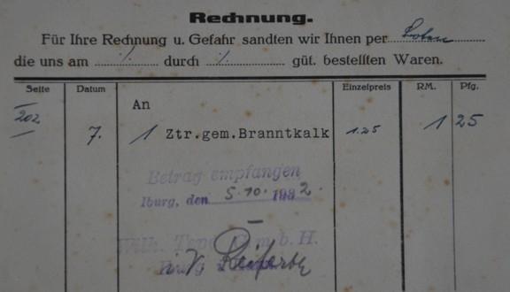 Rechnung vom 05.10.1932