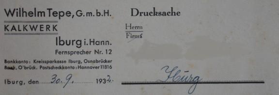 Drucksache vom 30.09.1932
